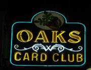 Oaks Card Club California logo